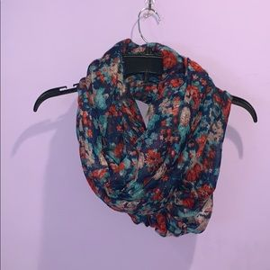 Nordstrom BP blue & red floral scarf